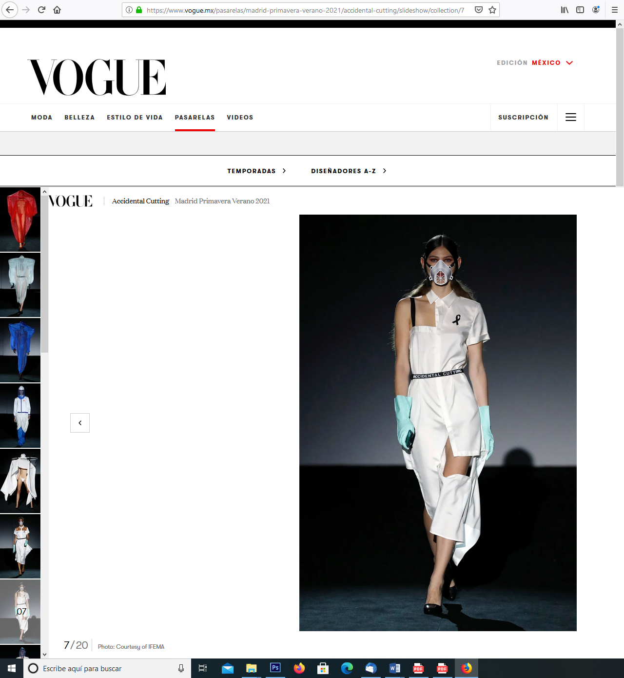 VOGUE Mexico- Accidental Cutting